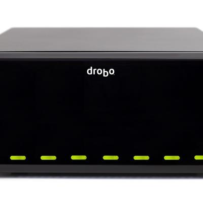 An 8-bay DroboPro capable of providing up to 16TB of storage.