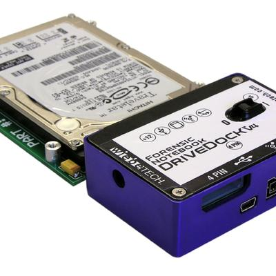 A Forensic DriveDock designed to assist for notebook sized hard drives.